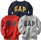 baby GAP ラグラン ロゴ トレーナー 長袖 (ネイビー・レッド・グレー)【4歳~5歳】(並行輸入品) (2, グレー)