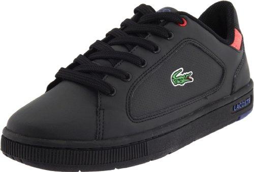 Lacoste Nistos Lace-Up Sneaker (Toddler/Little Kid/Big Kid),Black/Blue-CB,4 M US Big Kid