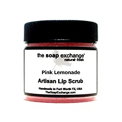 Lip Scrub Pink Lemonade 1.5 oz Natural Artisan Lip Care by The Soap Exchange®
