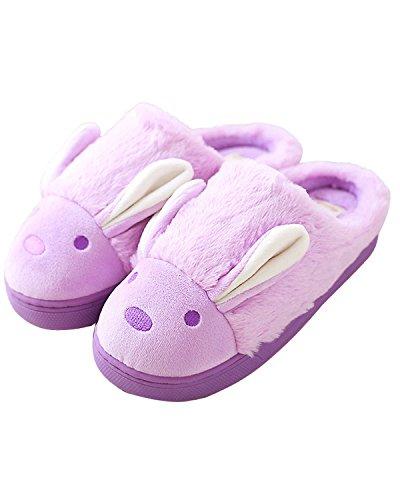 Minetom-Mujeres-Nias-Otoo-Invierno-Suave-Algodn-Felpa-Zapatillas-Cartoon-Zapatos-Zapatillas-de-Interior-antideslizantes