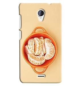 Blue Throat Orange Fruit Hard Plastic Printed Back Cover/Case For Micromax Unite 2