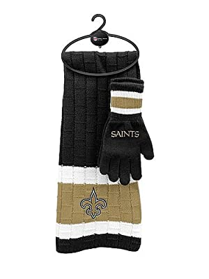 New Orleans Saints Scarf & Glove Gift Set - Licensed NFL Football Gift