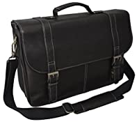 Heritage Colombian Leather Laptop Briefcase/Portafolio-Black from N/A
