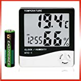 LCD Display Temperature and Humidity Meter with Alarm Clock Hygrometer