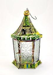 Recycled Tin Lamp Lantern Tea Tea Light India Turkish Moroccan