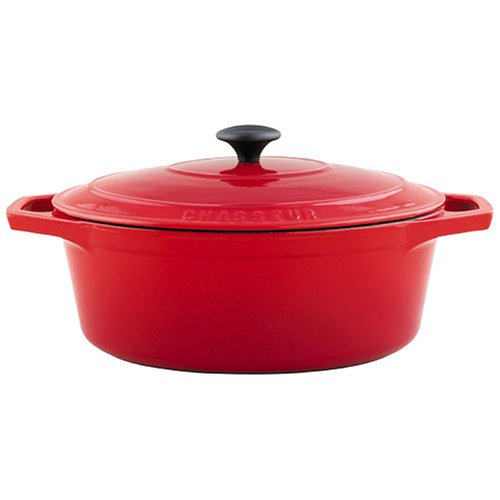 French Home Red 8 Quart Oval Casserole