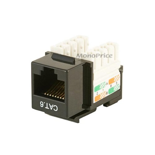 MP Cat6 Punch Down Keystone Jack - Black picture