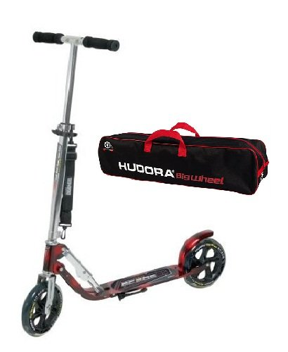 Hudora Scooter Roller Cityroller Big Wheel RX MC 205 LASERROT ROT mit Scootertasche