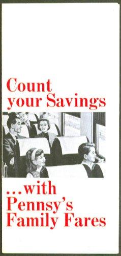 Count Your Saving Pennyslvania Railroad Family Fares Folder