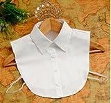 つけ襟 付け襟 シンプル ブラウス シャツ 4つボタン ホワイト 白 ビジュー 蝶蝶 ギンガムチェック 赤 青 黒