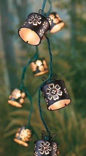 Thresholdtm Decorative Indoor/Outdoor String Lights - Diecut Round Floral Aura