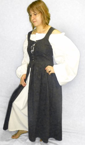 Ameline Peasant Irish Dress (Small - Black)