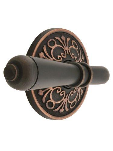 Lancaster Door Set With Turino Lever Handles Right Hand Passage In Oil Rubbed Bronze. Old World Door Knobs. front-799813