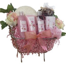 Art of Appreciation Gift Baskets Pretty In Pink Bathtub Spa, Bath and Body Set