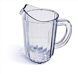 New Star Polycarbonate Plastic Restaurant Water Pitcher, 32-Ounce, Set of 12, Clear by New Star Foodservice