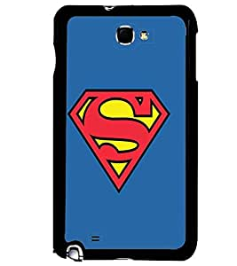 Printvisa Superman With A Blue Background Back Case Cover for Samsung Galaxy Note i9220::Samsung Galaxy Note 1 N7000