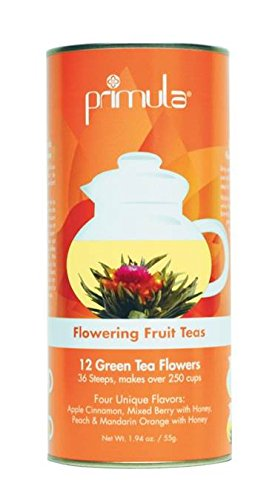 Primula Gift Canister With 12 Variety Flowering Green Teas