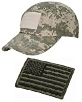 Ultimate Arms Gear� Tactical Military ACU Army Digital Camo Camouflage Baseball Sport Team Hat Cap + USA Flag Patch