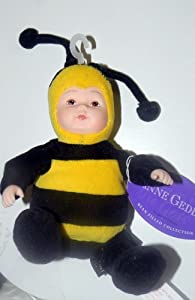 Anne Geddes 9 Bumble Bee baby plush bean & plastic by ANN GEEDES