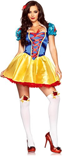 Leg Avenue Women's 2 Piece Fairytale Snow White Costume, Multi, Medium/Large