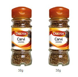 DUCROS - Poivres Herbes Epices - Epices - Carvi - 38 g - lot de 2