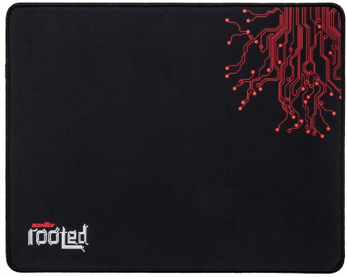 Mouse Pad Sentey® Rooted Mouse Surface 3Mm Thick Support Wired Or Wireless Mouse And Gaming Mouse / Gaming Surface / Edge-Style Overlock / Natural Eco Rubber / Medium Friction Level / 100 % Polyester / Gs-2330 / Compatible Any Dpi Speed And Any Optical La