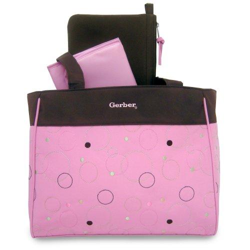 Gerber Circle Diaper Tote, Pink