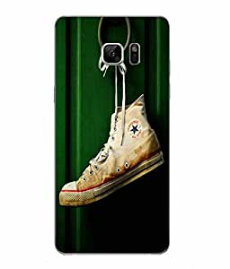 Snazzy Shoe Printed Green Hard Back Cover For Samsung Galaxy Note 7