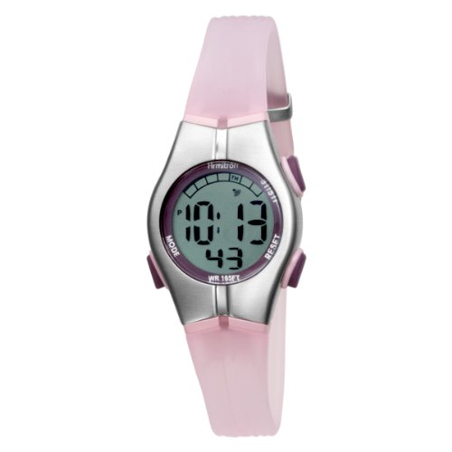 Armitron Women's 456963PNK Sport Chronograph Pink Resin Strap Digital Display Watch