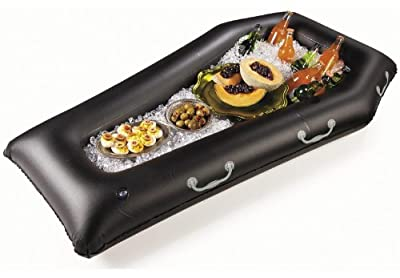 Mayflower Distributing Mens Halloween Inflatable Coffin Buffet Cooler