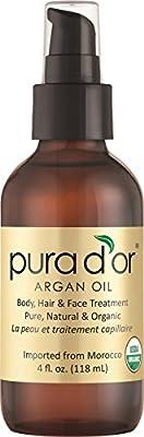 Pura D'or Argan Oil -- 4 fl oz