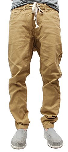 Victorious Mens Twill Jogger Pants (Medium, Wheat) (Men Jogger Pants compare prices)