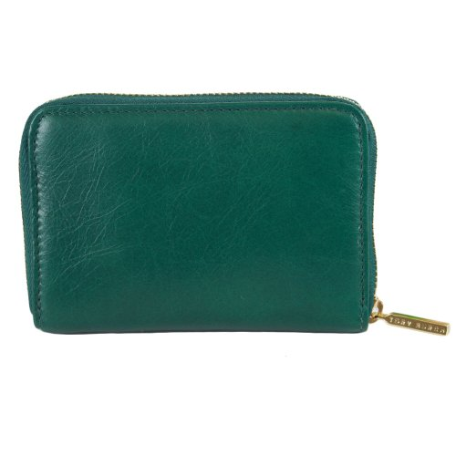 Tory BurchTory Burch Dena Leather Zip Coin Case Malachite