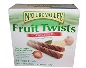 Nature Valley Fruit Twists Strawberry Naturally Flavored 18 Pouch Box