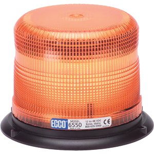 ECCO Clear Low Profile Strobe Double Quad Flash Beacon