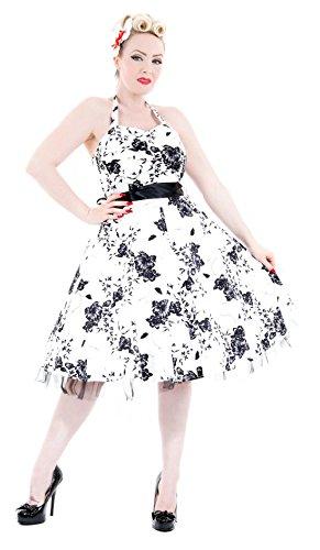 H R & London, colore: nero, motivo: rose, colore: Bianco bianco 20
