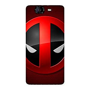 Cute Dead Eye Round Red Back Case Cover for Canvas Knight A350