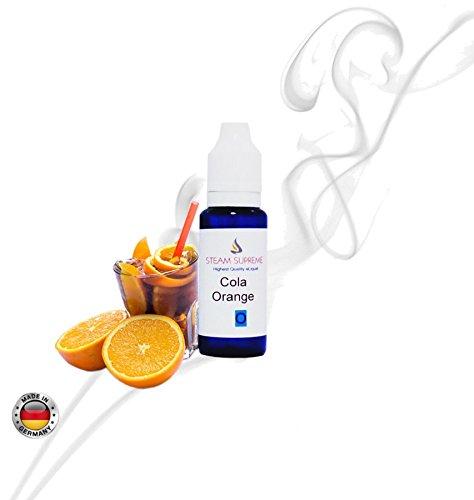 E-Liquid 20ml aus DEUTSCHER HERSTELLUNG PREMIUM LIQUID für e-Zigaretten, e-Pfeife. e-Shisha (24,95€/100ml) Geschmackssorte: Cola Orange . OHNE NIKOTIN !