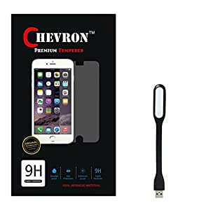 Chevron 0.3mm Tempered Glass Screen Guard Protector For InFocus M330 With Mini USB LED Light Lamp