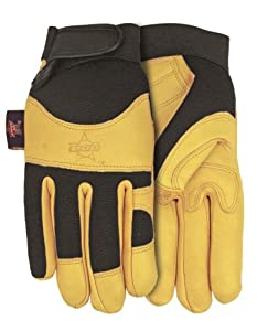MidWest Gloves and Gear PB116-XL-AZ-6 Premium Goatskin Leather Work Glove, Extra-Large