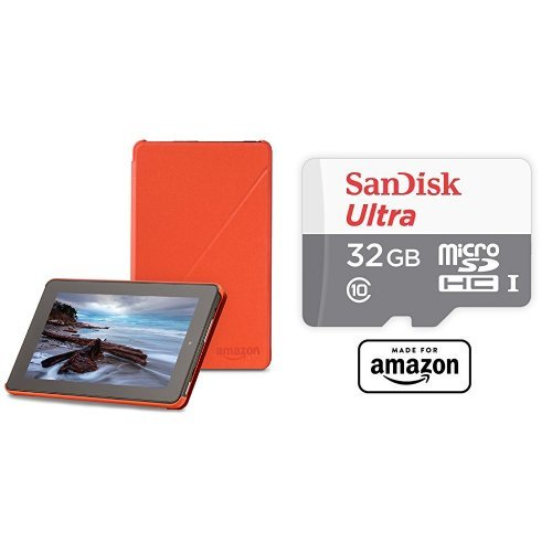 amazon-fire-7-2015-release-case-tangerine-and-sandisk-32-gb-micro-sd-memory-card