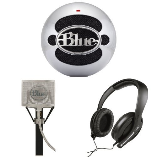 Blue Microphones Snowball Usb Microphone With Blue Mics Pop Filter And Blue Microphones Snowball Usb Microphone