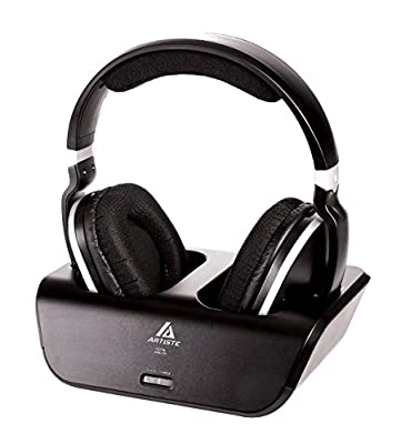 Beteran Artiste ARKON ADH300 ADH-300 Ultra-Clear Audio Wireless 2.4G 30M Distance Wired/ Wireless Dynamic Noise Cancelling Deep Bass HiFi Gaming Music Leather Stereo Music Computer PC Over-Ear Studio Monitor Headphone Headset Earphones for MP3 MP4 Movie T