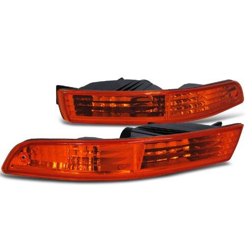 Spec-D Tuning LB-INT94AM-RS Acura Integra Rs Ls Gs Bumper Lights Amber (97 Integra Bumper Lights compare prices)