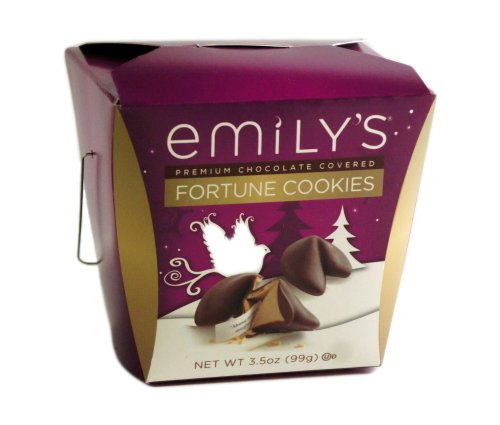 Emily's Fortune Cookies, Premium Covered with Chocolate, 3.5 Ounce