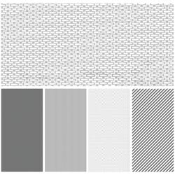 Bulk Buy: We R Memory Keepers (3-Pack) Shape 'n Tape Washi Sheets 6'X12' 5/Pkg Gray ST0-3428