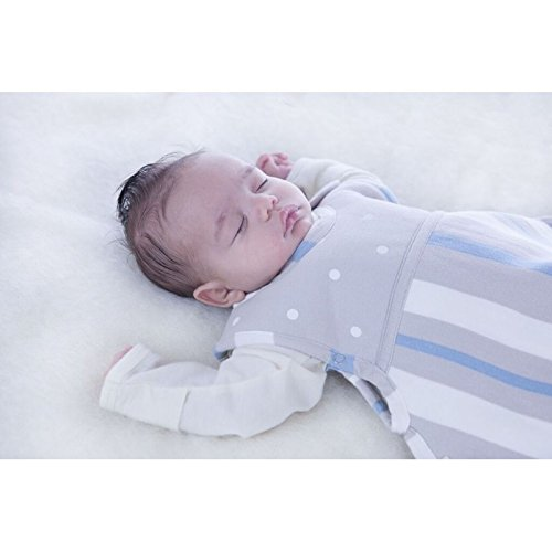 Merino Kids Winter Sherpa-Weight Baby Sleep Bag For Babies 0-2 Years, Grey/Blue