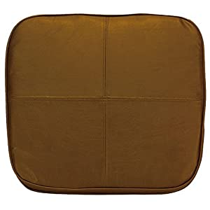 Kennedy Home Collections Faux Leather Chair Pad In Chocolate C