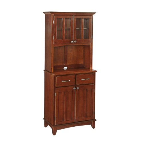 Home Styles Furniture Cherry Wood Buffet with 2-Door Panel Hutch