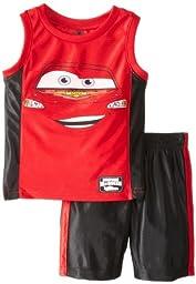 Disney Little Boys\' 2 Piece Cars Dazzle Short Set, Chili Pepper, 3T